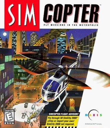 Box art Image credit https://en.wikipedia.org/wiki/SimCopter#/media/File:Simcopter_box_cover.jpg