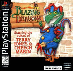 PlayStation cover art Image credit https://en.wikipedia.org/wiki/Blazing_Dragons_(video_game)#/media/File:Blazing_Dragons_cover.jpg