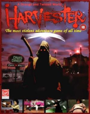 European cover art Image credit https://en.wikipedia.org/wiki/Harvester_(video_game)