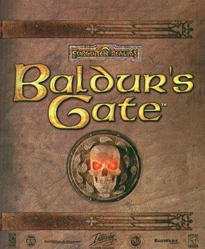 """Baldur's Gate box"". Licensed under Fair use via Wikipedia - https://en.wikipedia.org/wiki/File:Baldur%27s_Gate_box.PNG#/media/File:Baldur%27s_Gate_box.PNG"