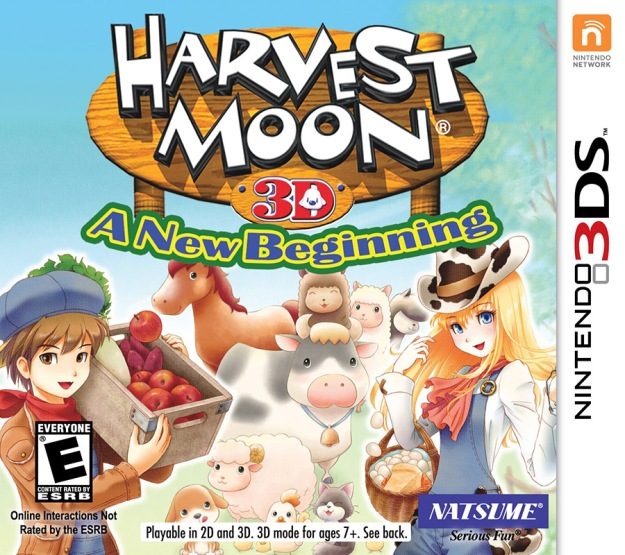 """Harvest Moon - A New Beginning Coverart"" by Source. Licensed under Fair use via Wikipedia - https://en.wikipedia.org/wiki/File:Harvest_Moon_-_A_New_Beginning_Coverart.jpg#/media/File:Harvest_Moon_-_A_New_Beginning_Coverart.jpg"